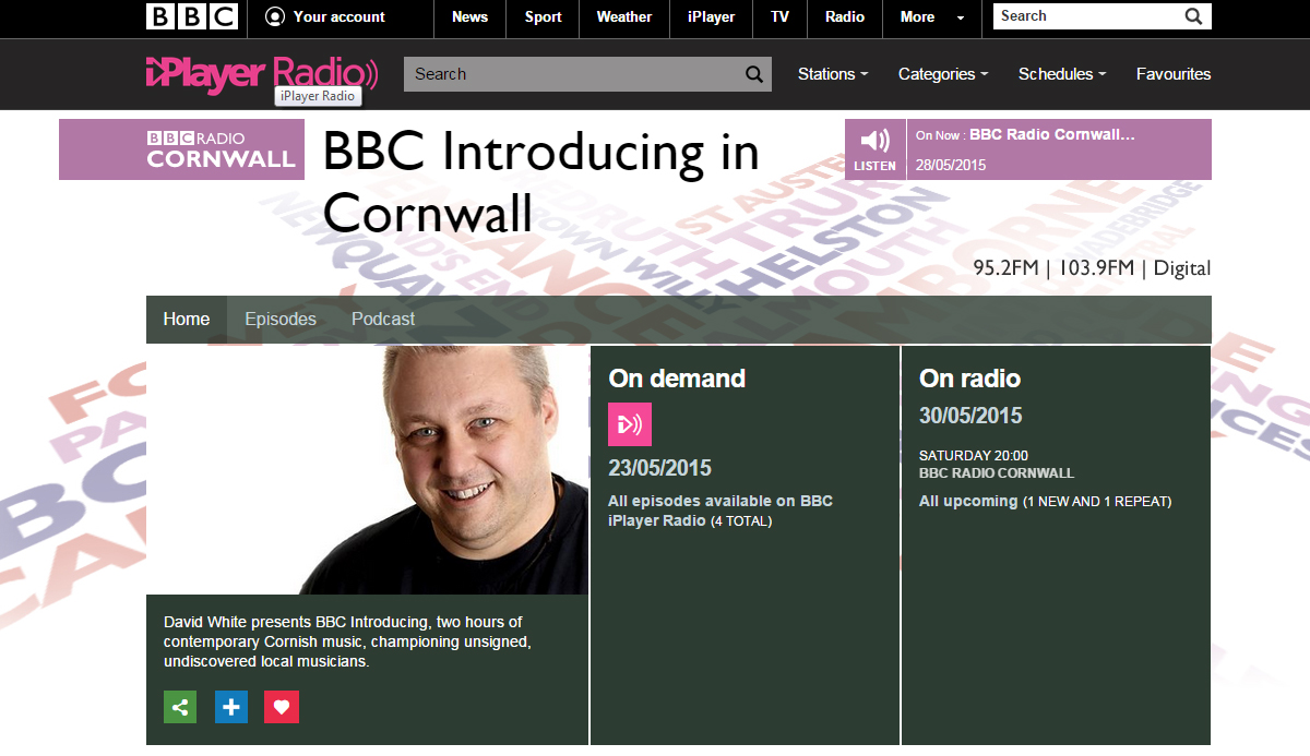 BBC Cornwall David white